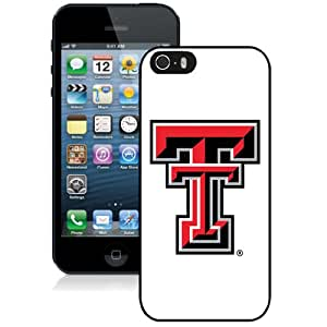 Fashion And Unique iPhone 5 5S Cover Case NCAA Big 12 Conference Big12 Football Texas Tech Red Raiders 7 Protective Cell Phone Hardshell Cover Case For iPhone 5 5S Black Phone Case