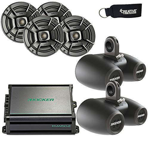 Polk Audio Marine Wake Tower Package with 4 DB652 6.5