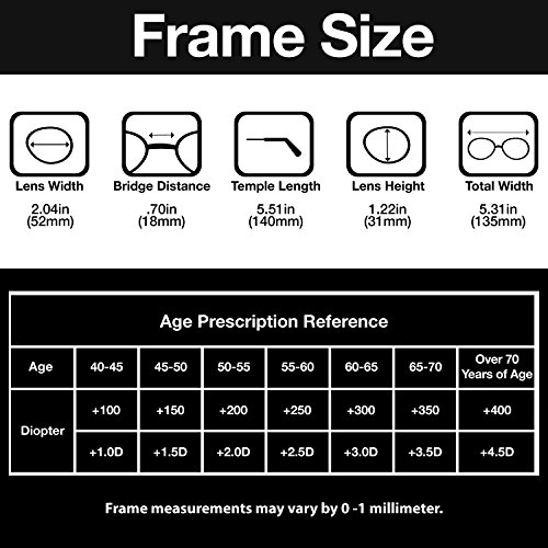 Gamma Ray Men's Reading Glasses - 3 pc Stainless Steel Flex Readers for Men - 3.00
