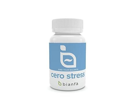 Conciliador de sueño. CERO STRESS Melatonina + Triptófano. Relajante natural