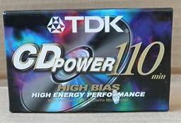 TDK CDPower 110 High Bias Audio Cassette Tape - 1 count