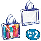 Best Bags For Less Makeup Travel Bags - mDesign Clear-View Plastic Travel Makeup Toiletry NFL Stadium Review
