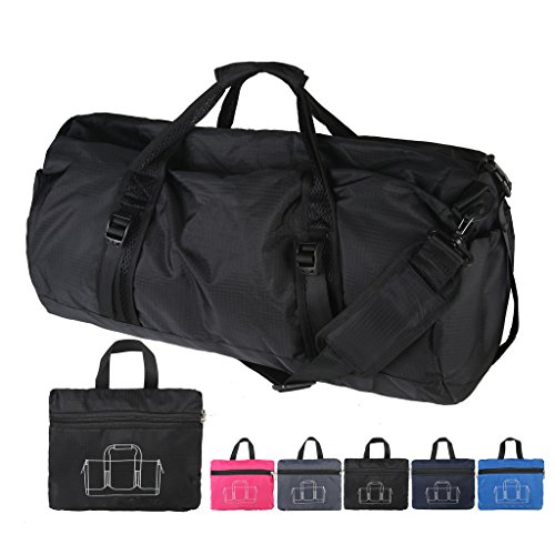 Belloo zusammenklappbar Sporttasche,4 Farbe, Vielseitiges Tragen Lila