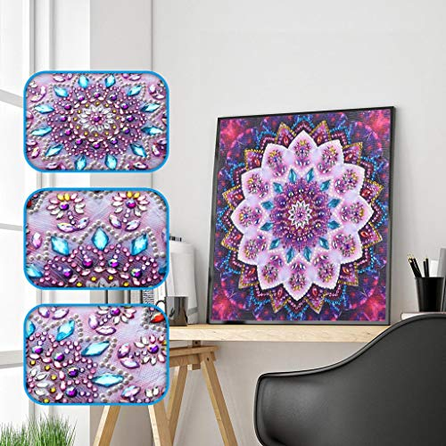 - ❤Ywoow❤ Diamond Embroidery, 4Pcs/Set Special Shaped Diamond Painting DIY 5D Partial Drill Cross Stitch Kits Crystal Rhinestone of Picture Serial Diamond Embroidery Arts Craft