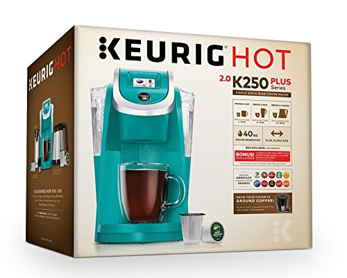 Keurig K250 Single Serve, Programmable K-Cup Pod Coffee Maker with strength control, Turquoise by Keurig (Image #9)