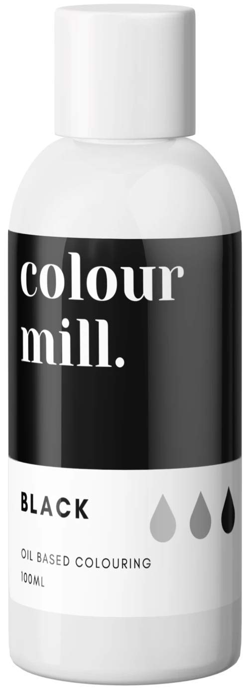 Colour Mill Oil-Based Food Coloring, 100 Milliliters Black