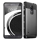 Image of Note 4 Case, Asstar Hybrid 2 in 1 Dual Layer Plastic Hard Shell Flexible TPU Protective Shock Absorbing Impact Defender Slim Case For Samsung Galaxy Note 4 (Black)
