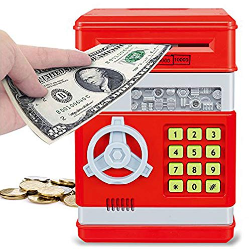Liberty Imports Electronic Money Safe Piggy Bank with Password Key