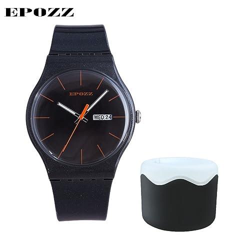 Frauen Uhren epozz Marke Luxus Casual Quarz Sport Armbanduhr Rubber Strap Mädchen Colorful Outdoor Uhr Armbanduhr