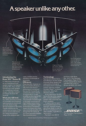 1976 Bose 901 Speaker: A Speaker Unlike Any Other, Bose