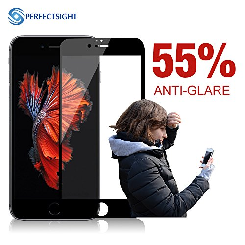 PERFECTSIGHT Screen Protector Compatible for iPhone 6 Plus/6s Plus [Eye Care] Anti Glare Blue Light Filter Anti Fingerprint 9H Tempered Glass Film ()