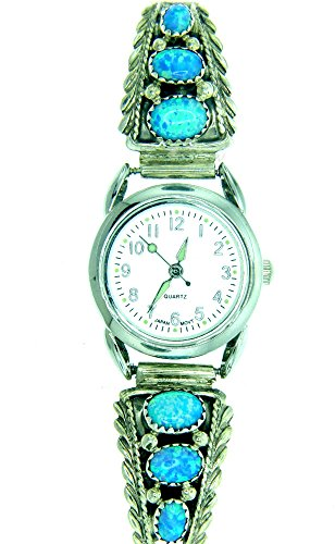 Rich Peel Navajo Created Opal Ladies Watch Bracelet by Robert Brown