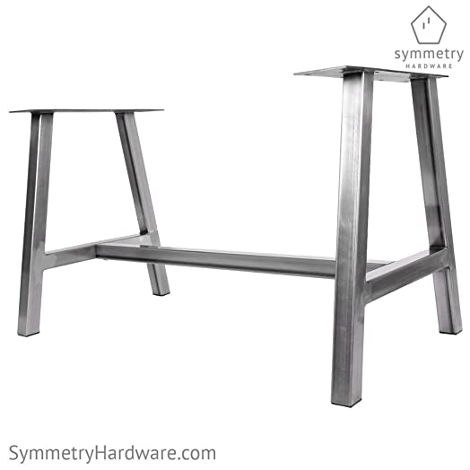 Metal Dining Table Base – The Alpine – 1 WHOLE BASE by Symmetry Hardware – Modern Industrial Dining Table Base
