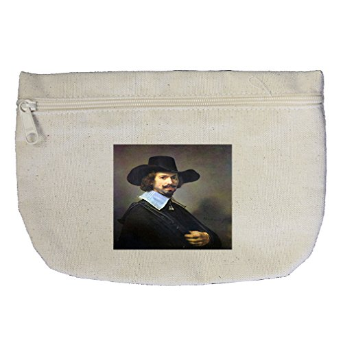 (Portrait Of Martin Looten (Rembrandt) Canvas Makeup Bag Zippered Pouch)