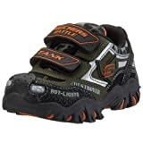 Skechers Little Kid Damager-Army Hook-And-Loop Light-Up Shoe