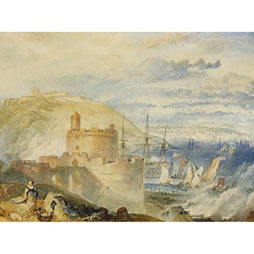 Turner Falmouth Harbor 1825 Painting Unframed Wall Art Print Poster Home Decor Premium (Falmouth Furniture)
