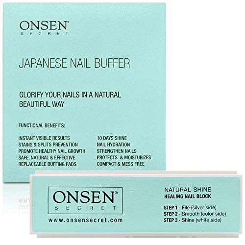 - Nail Buffer Block, 3 Way Buffing - File, Smooth, Shine - Mini Natural Nail Polisher with 3 Sides - Coarse, Soft, Silky - Professional Nail Care, White Sanding Block, Perfect Mini Manicure Set by Onsen