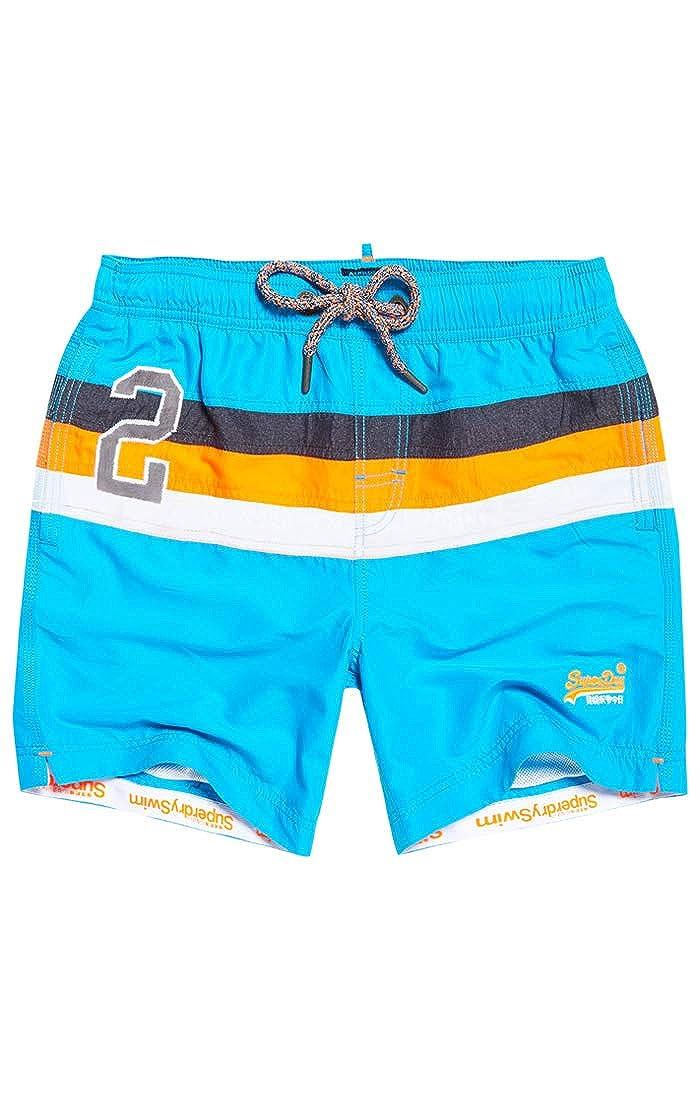 TALLA S. Superdry Water Polo Stripe Swim Short - Bañador Hombre