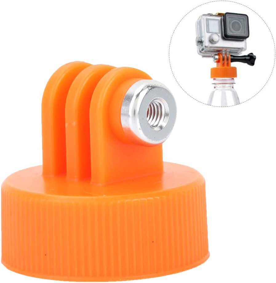 VBESTLIFE Surfing Plastic Water Bottle Cap Mount Adapter Connector for Sports Camera Accessories Black Durable Reusable Action Camera Bottle Adapter Mount