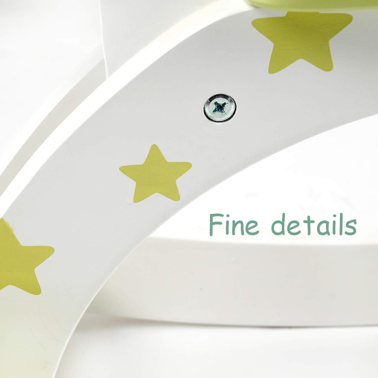 Jouet /à Bascule b/éb/és Cheval /à Bascule en Bois Blanc Lovable playmates /Étoiles imprim/ées Vert