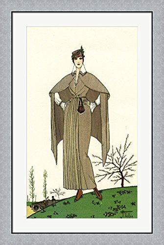 Costumes Parisiens of 1914, Women's Fashion by Print Collection Framed Art Print Wall Picture, Flat Silver Frame, 26 x 39 (Costumes Parisiens 1914)