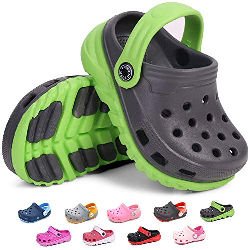 Boys Comfort Clogs - BiBeGoi Toddler Kids Boys Girls Lightweight Garden Clogs Slip On Shoes Beach Slippers Water Sandals Pool Summer Outdoor Shoe (Toddler/Little Kids)