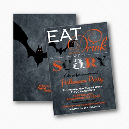 Eat Drink and Be Scary Bat Halloween Party