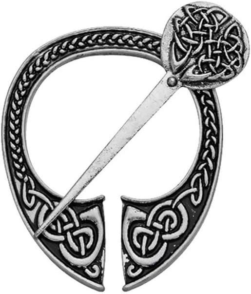 Ogquaton R/étro Viking Broche Bijoux Boucle En M/étal Accessoires
