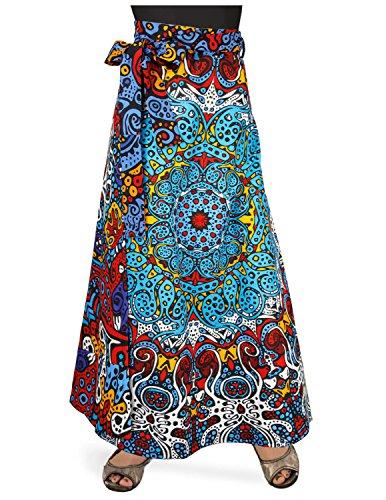 Sunshine Joy Hippie Wrap Skirt With Hidden Zippered Waist Pocket - Glow In The Dark Sunburst