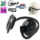 Casque sport lecteur audio MP3 sans fil Radio FM Running Micro SD