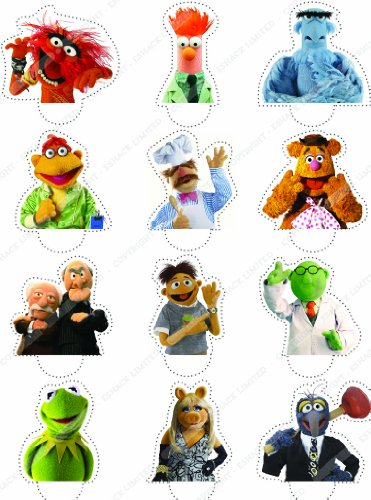 Cakeshop 12 x PRE-CUT Disney The Muppets Stand Up Edible Cake Toppers - Premium Wafer Paper (Halloween Cupcakes Decorations Uk)