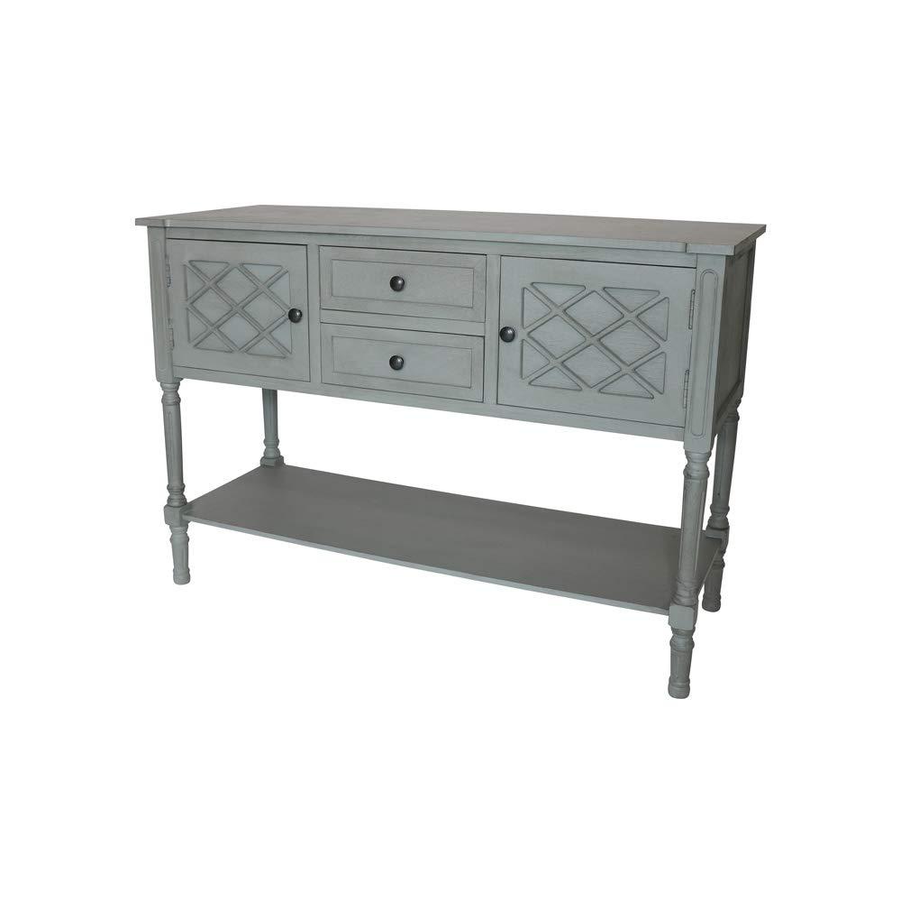 Melody Maison Large Grey Sideboard Storage Unit - Venice Range