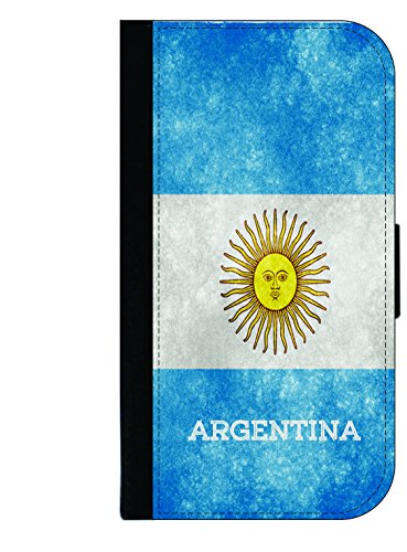 Argentina Grunge Flag - Wallet Style Flip Phone Case Compatible with s3/s4/s5/s6/s6edge/s7/s7edge/s8/s8Plus - Select Your Compatible Phone - Usa From Shipping To Argentina