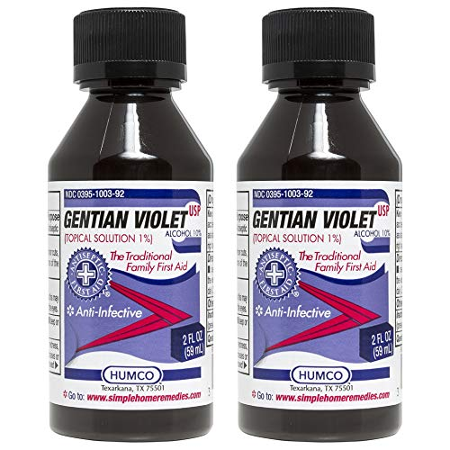 Gentian Violet - Humco Gentian Violet Topical Solution 1% USP 2 oz (Pack of 2)