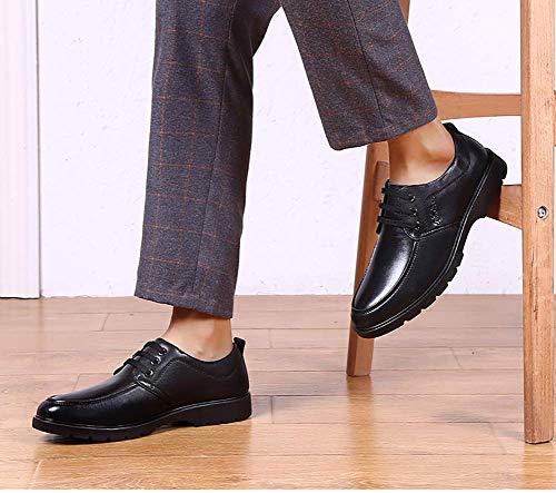 cerimonia 7 uomo uomo 8 10 US Dimensione casual UK UK mocassini da HhGold da Marrone Scarpe NERO da comode uomo pelle Nero Colore in 11 per US 5 colore taglia 5 F0SSpwOPq