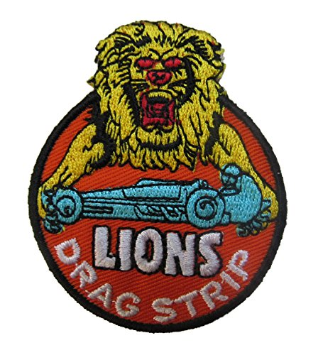 Lions Drag Strip Iron On Patch