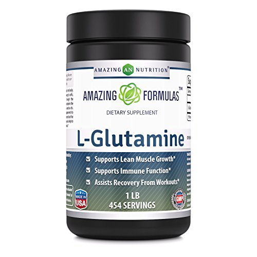 Amazing Formulas L- Glutamine 1 Lb 454 Servings - Supports Lean Muscle Growth