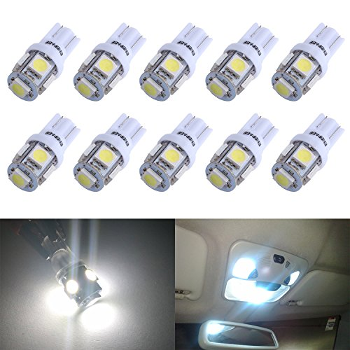ENDPAGE 194 168 2825 W5W T10 5-SMD White Car LED Light Bulb 10pcs