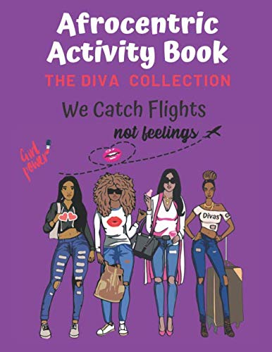 Black History Month Activities (Afrocentric Activity Book The Diva Collection: Sudoku,Word Search, & Coloring Images with Positive)