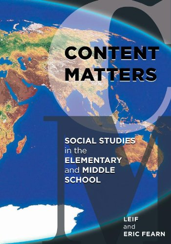 Download Content Matters: Social Studies in the Elementary and Middle School Pdf