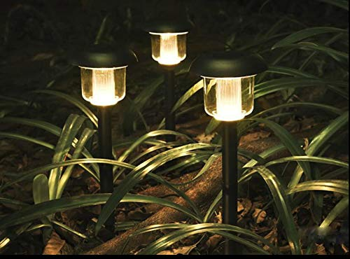 Solar Lights Outdoor Pathway Decorative Garden Large Black Bright White Warm LED Stake Light Set Landscape Lighting Stakes Waterproof Decorations Driveway Lamp for Walkway Outside Yard 6Pack by Sogrand (Image #5)