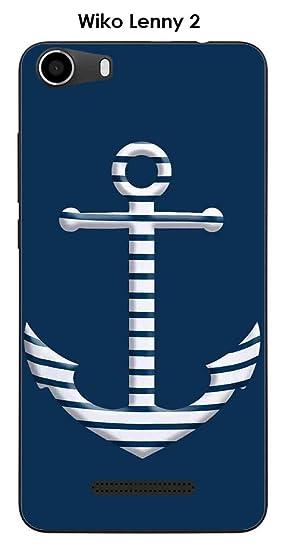 Onozo Carcasa Wiko Lenny 2 Design ancla marinero fondo azul ...