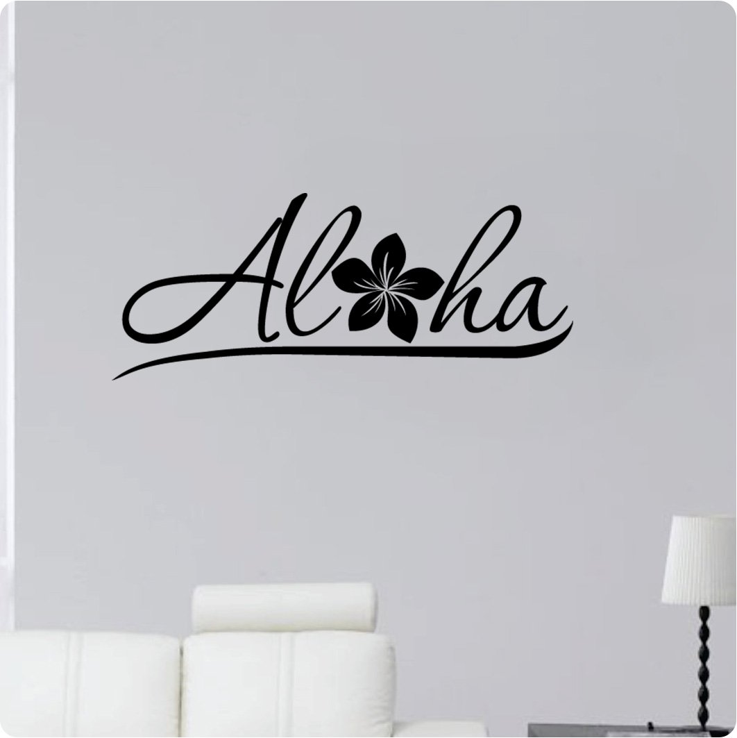 Amazon 28 aloha hello goodbye hawaii hibiscus flower wall amazon 28 aloha hello goodbye hawaii hibiscus flower wall decal sticker art mural home dcor quote home kitchen amipublicfo Images