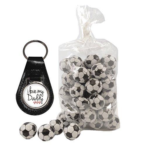 cuero blanco de bolsa globos 3 200 g de Daddy Llavero de Love My Hearts con y leche de chocolate I 8qW0APvn