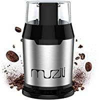Muzili Coffee Grinder, Electric Coffee Grinder for Coffee Beans Nuts and Grains Grinder with 304 Stainless Steel Blades...