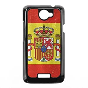 HTC One X Cell Phone Case Black Spain Flag Distressed TR2470042