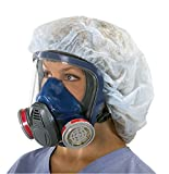 MSA Safety 10028995 Advantage 3200 Full-Facepiece Respirator with Rubber Harness, Medium