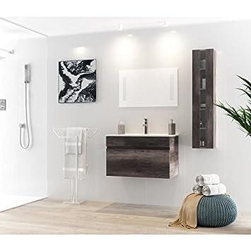 ALBAN Ensemble salle de bain simple vasque L 80 cm - Decor ...