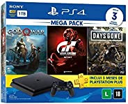 Console PlayStation 4 Mega Pack 12 - God Of War, Gran Turismo, Days Gone