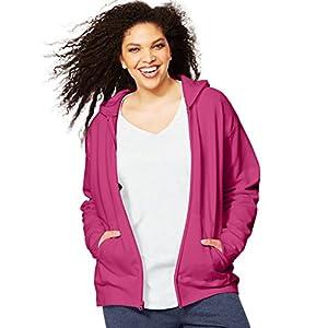 Just My Size Women`s ComfortSoft EcoSmart Fleece Full-Zip Hoodie, OJ105, 3XL